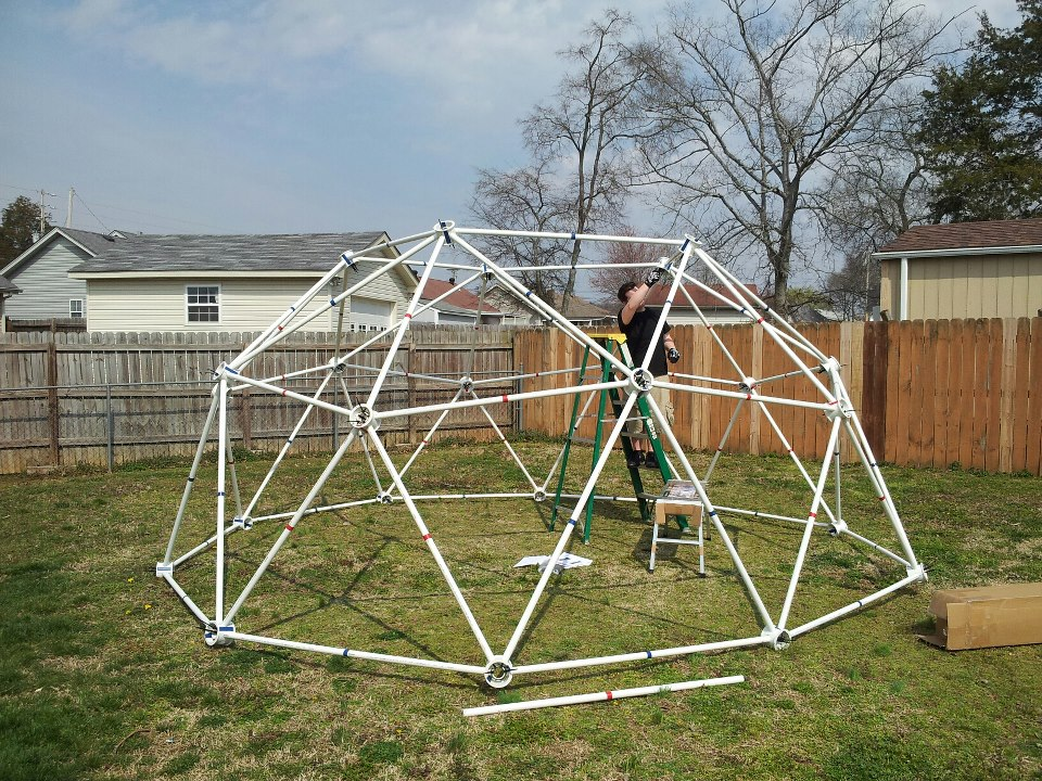 geodesic greenhouse pvc geodesic greenhouse kits made from pvc pipe - Dome Greenhouse Designs